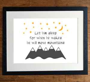 He/She Will Move Mountains Print