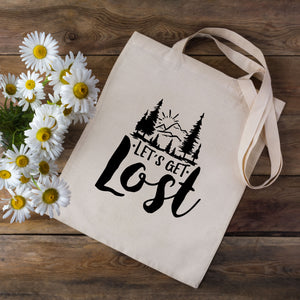 Lets Get Lost Tote Bag