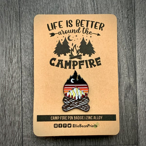Campfire Enamel Pin Badge