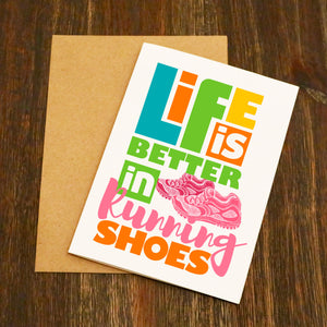 Life Is Better In Running Shoes Running Card