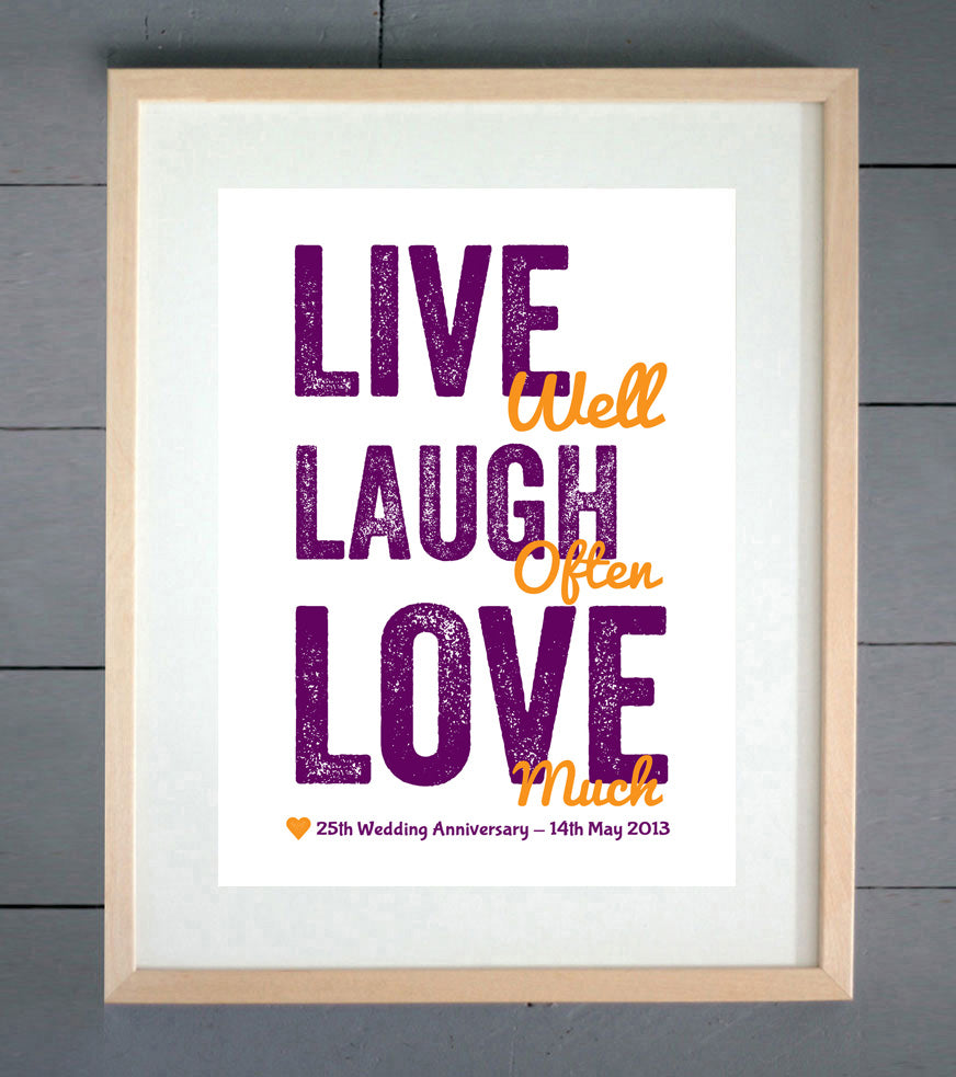 Live Well, Laugh Often, Love Much Print