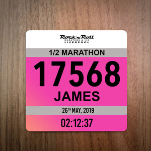 Liverpool Rock And Roll Half Marathon Bib Coaster