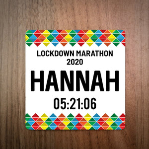 Lockdown Marathon Bib Coaster
