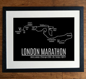 London Marathon GPS Personalised Print