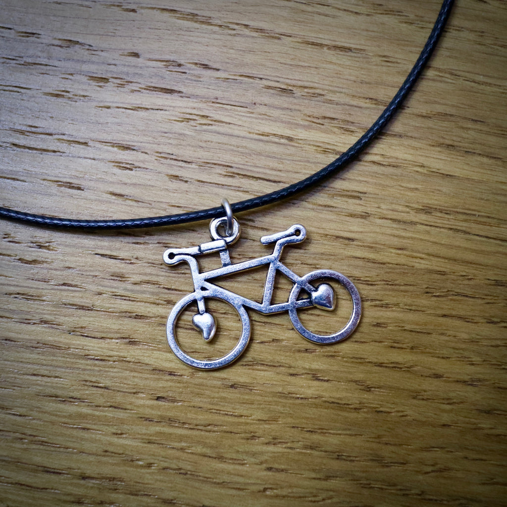 Love Bike Leather Choker Necklace