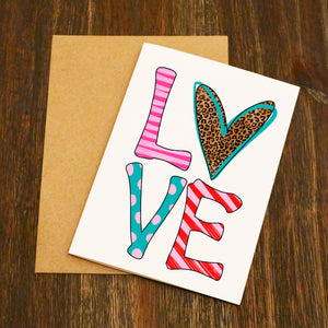 Love Pattern Valentine's Card