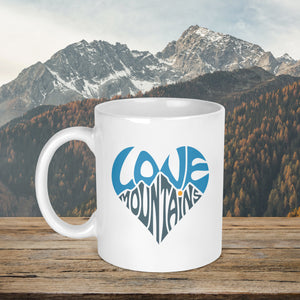 Love Mountains Heart Mug