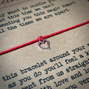 Magic Heart Wish Bracelet & Personalised Postcard