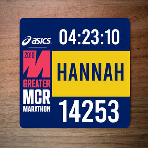 Greater Manchester Marathon 2019 Race Bib Coaster