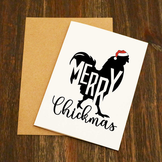 Merry Chickmas Christmas Card