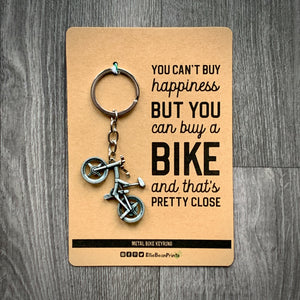 Metal Mountain Bike Keyring