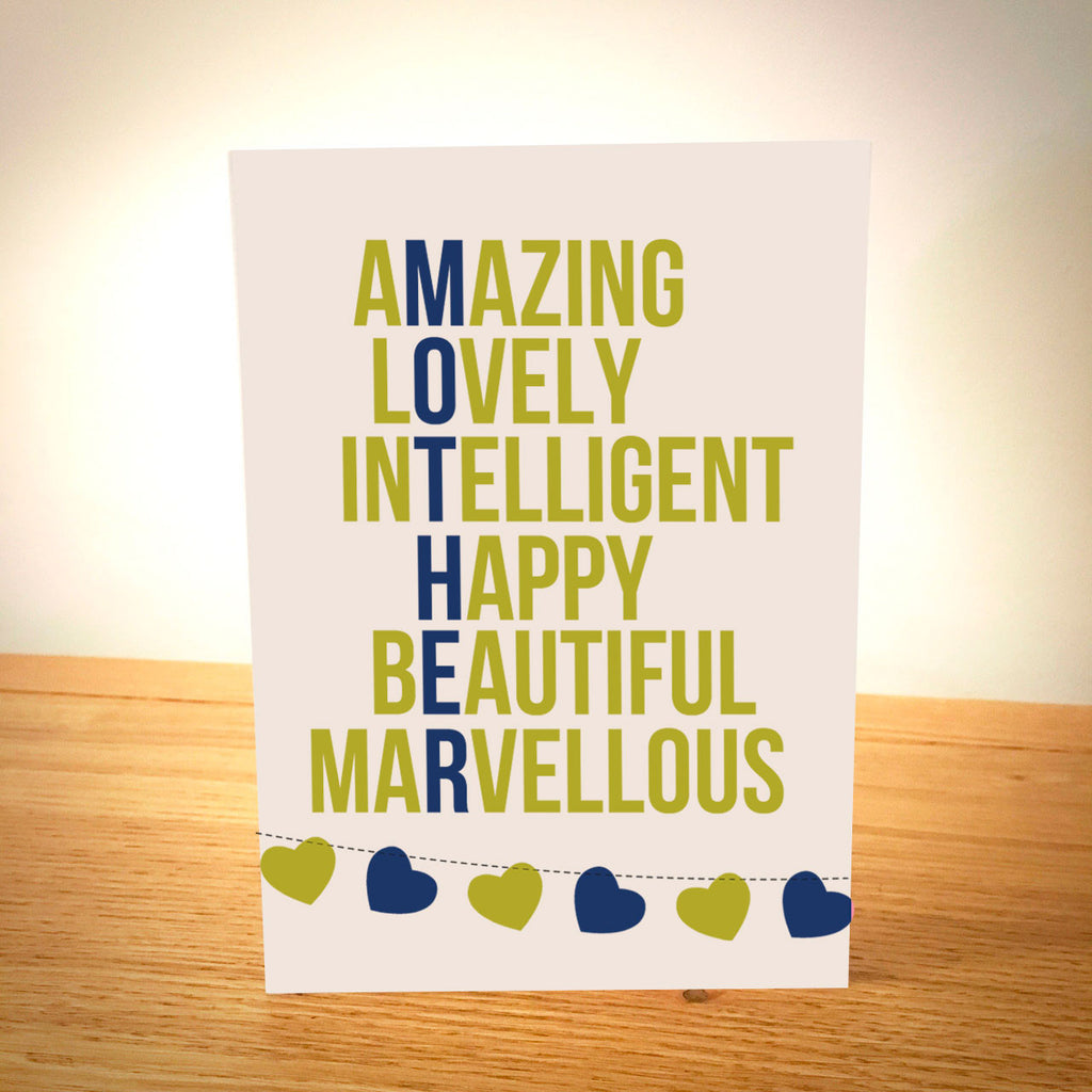 Marvellous Mother Personalised Mother's Day Card