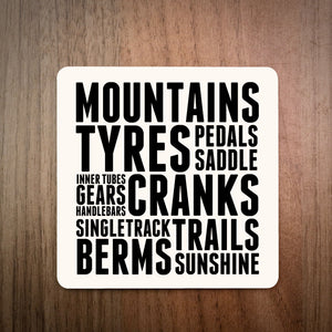 Mountain Bike Thoughts MTB Drinks Coaster