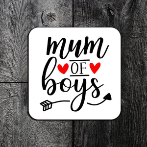 Mum Of Girls/Boys Coaster