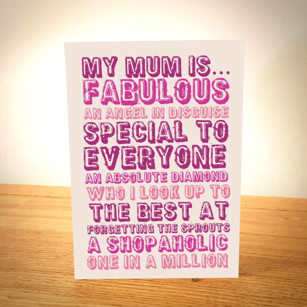 My Mum Is.... Personalised Mother's Day Card