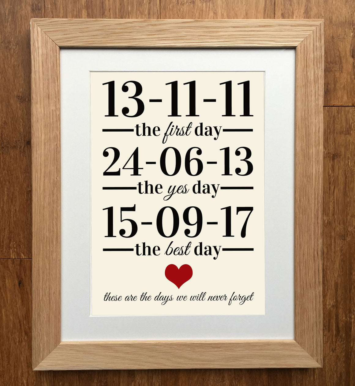 """Never Forget"" Personalised Print"