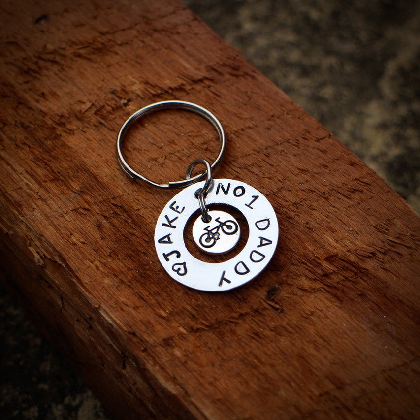 Personalised Cycling Keyring From EllieBeanPrints