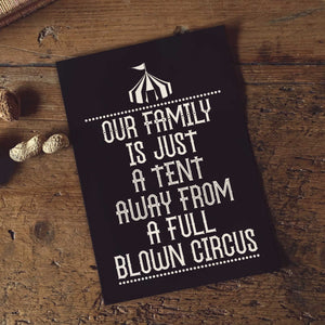 PDF Print Download | Our Family Is Just A Tent Away From A Full Blown Circus