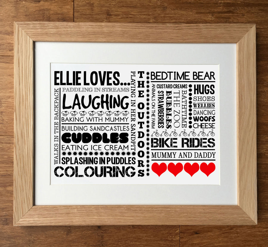 Likes or Loves Personalised Print