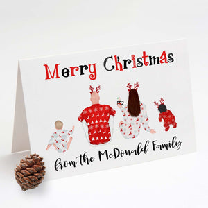 Personalised Festive Family Christmas Cards