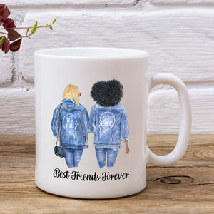 Personalised Friends Mug - Denim Bestie Design