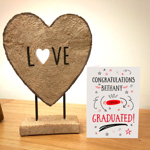 Personalised Doodle Graduation Card