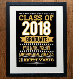 Class Of.. Personalised Graduation Print