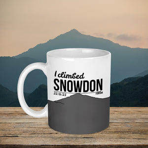 I Climbed Snowden Personalised Mountain Summit Mug
