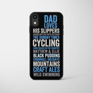 Likes/Loves Personalised Letterpress Phone Case