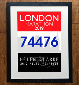 Personalised London Marathon Skyline Print