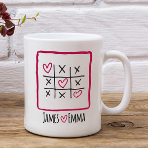 Personalised Kisses and Hearts Mug