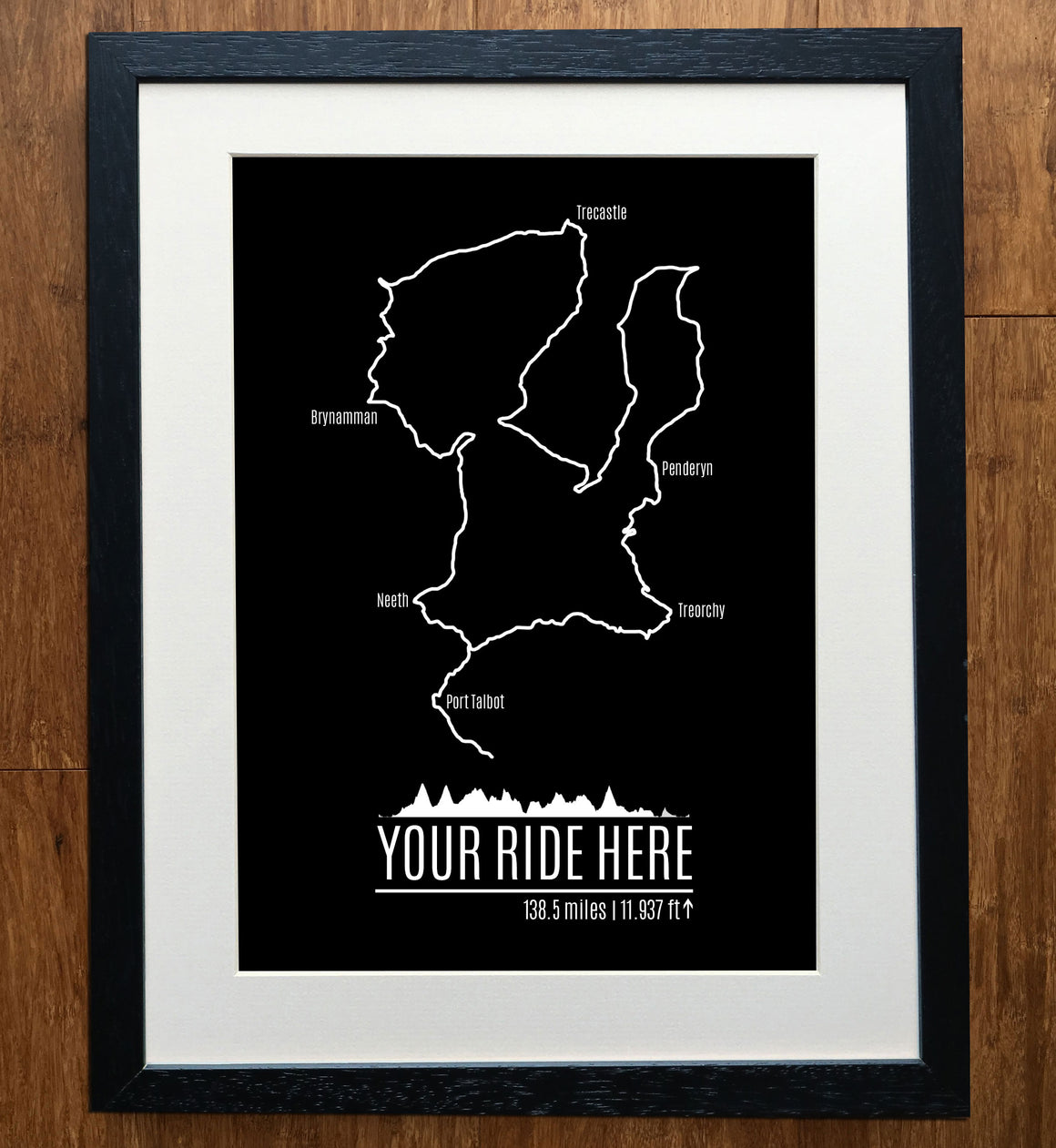 Custom GPS Road/Trail Cycling Print
