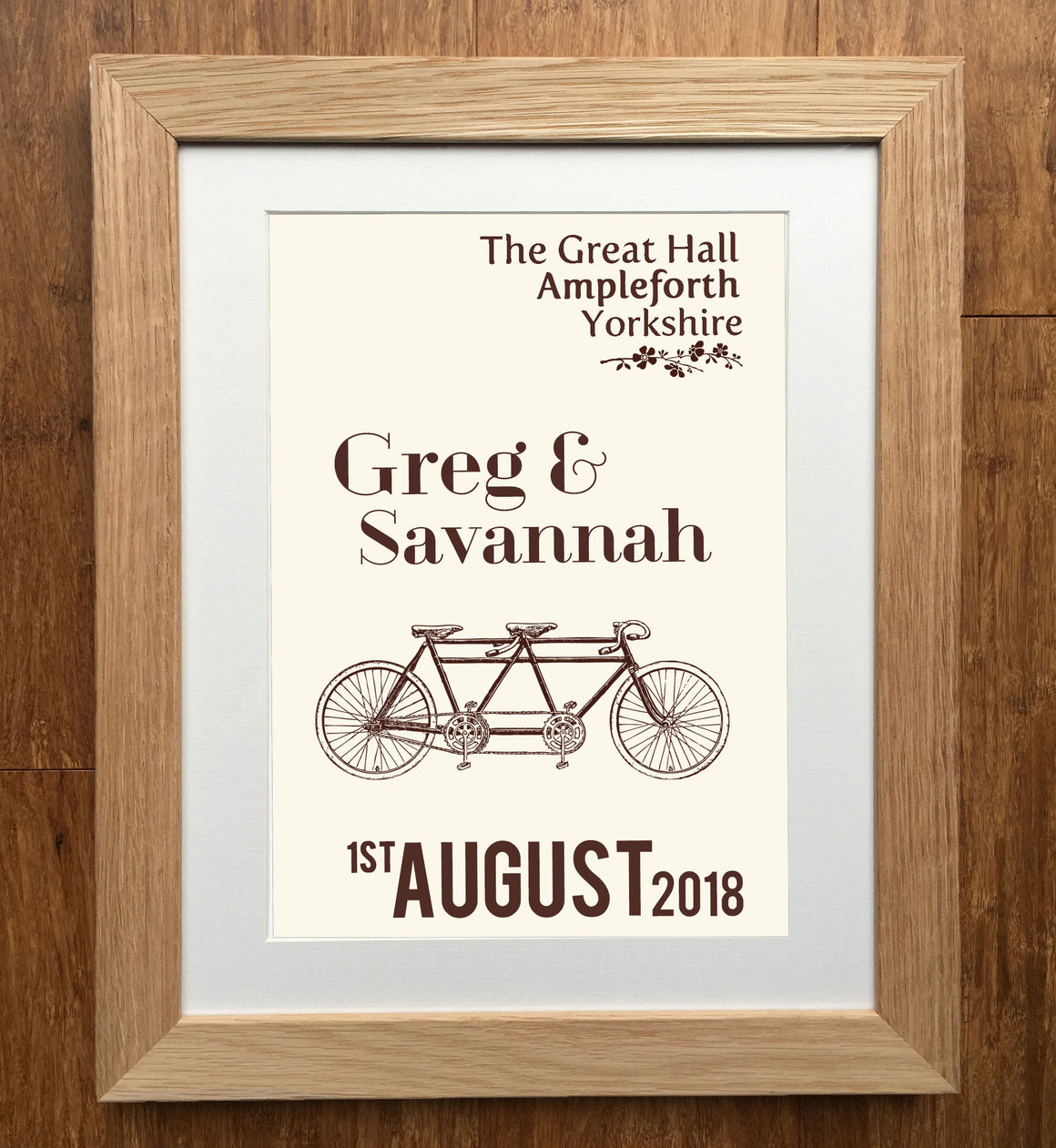 Tandem Personalised Wedding Print