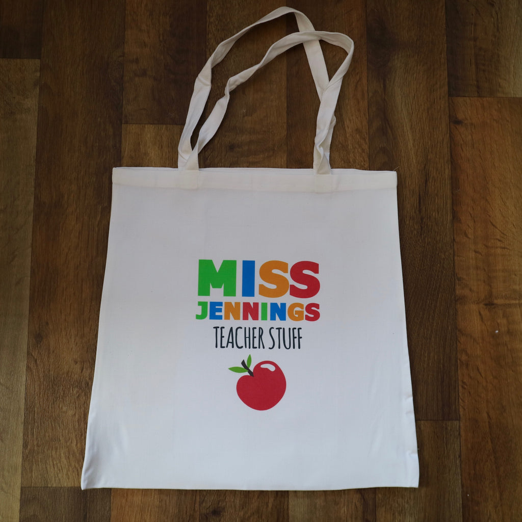 Personalised Teacher Canvas Shopping Bag