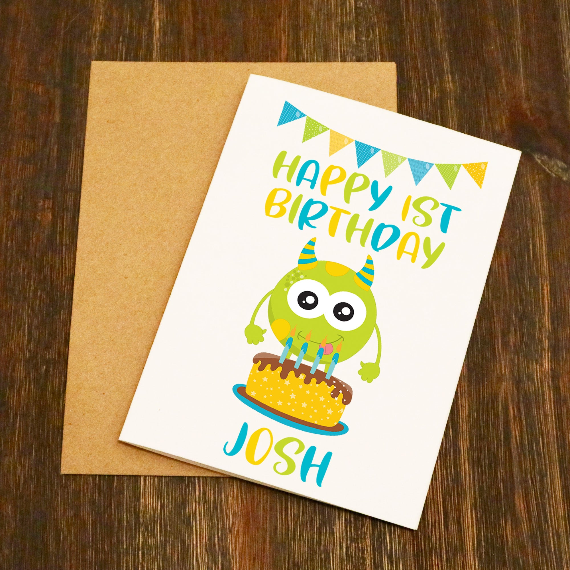Little Monster Personalised Birthday Card
