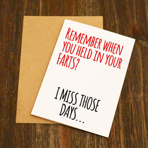Remember When - Farts Valentine's Card