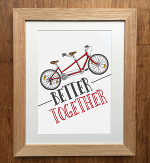 Better Together Tandem Bike Print