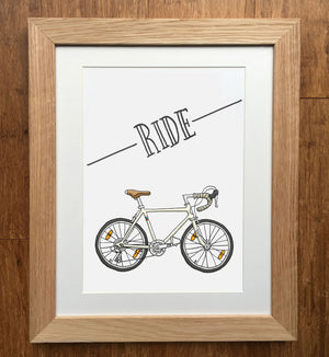 Ride Road Bike Print