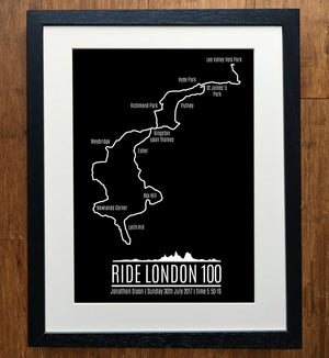 Ride London Sportive GPS Personalised Print