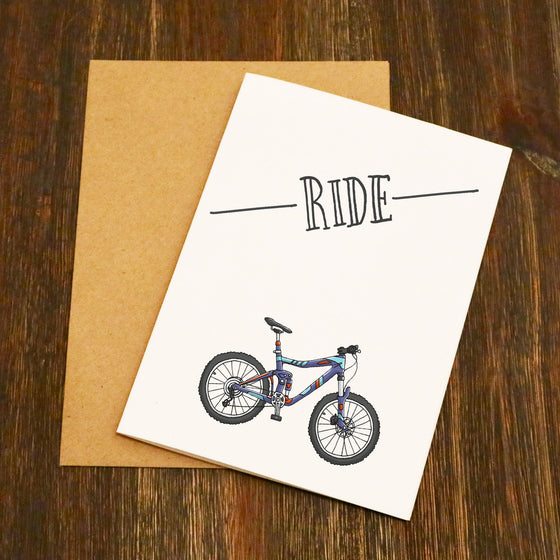 Ride Mountain Bike Cycling Card