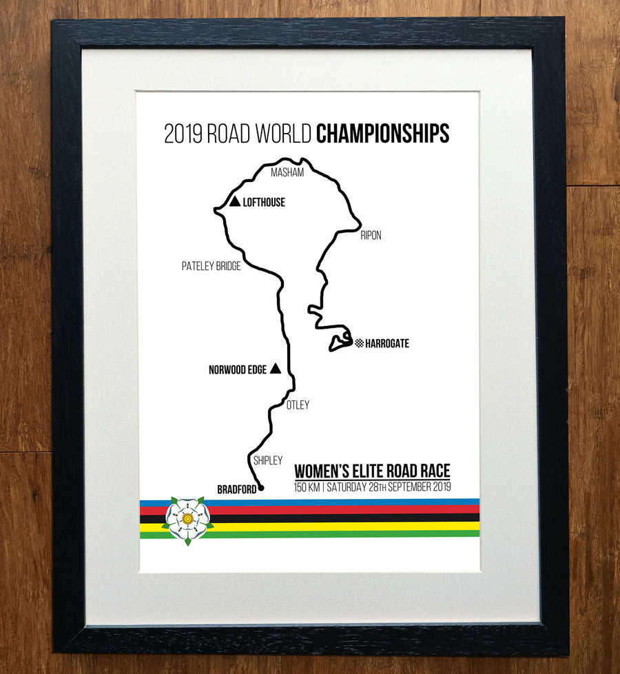 2019 World Championships Womens Elite Road Race Cycling Print