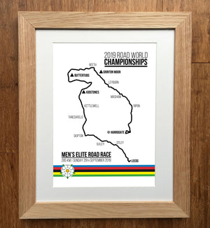 2019 World Championships Mens Elite Road Race Cycling Print