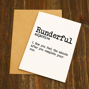 Runderful Dictionary Running Card
