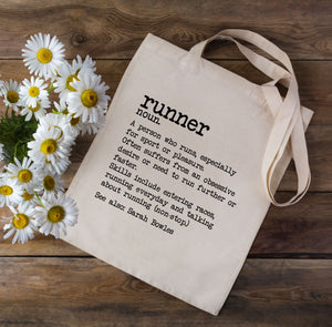 Runner Dictionary Definition Tote Bag