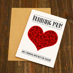 Running Mum Running Card