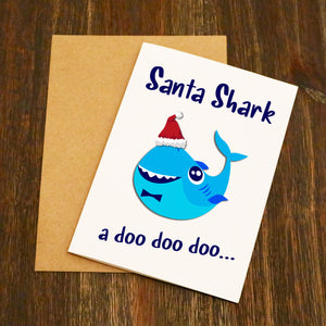 Santa Shark Christmas Card