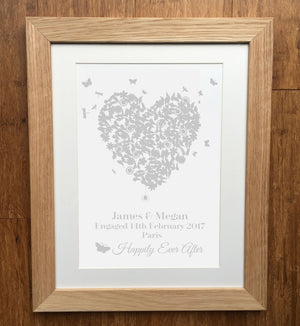 Heart Personalised Engagement Print
