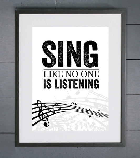 Elliebeanprints Sing Like No One Is Listening Print