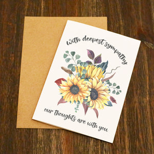 Sunflower Deepest Sympathy Card