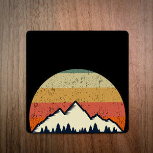 Sunset Retro Coaster